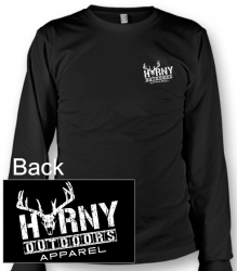HOA Horny? Long Sleeve Black Tee
