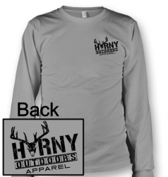 HOA Horny? Long Sleeve Grey Tee