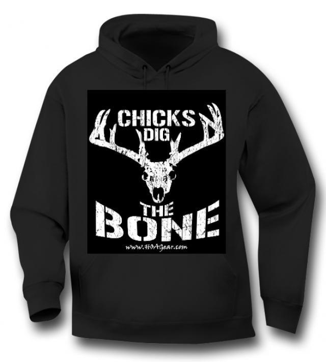HOA Chicks Dig the Bone Black Hoodie