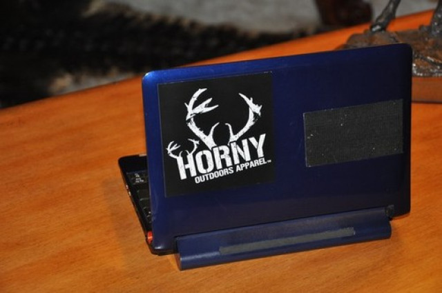 Horny Outdoors Apparel Small Sticker- Center Antlers