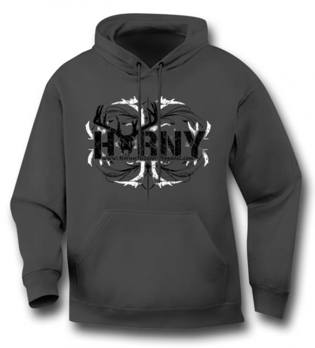 HOA Horny Antlers Grey Hoodie