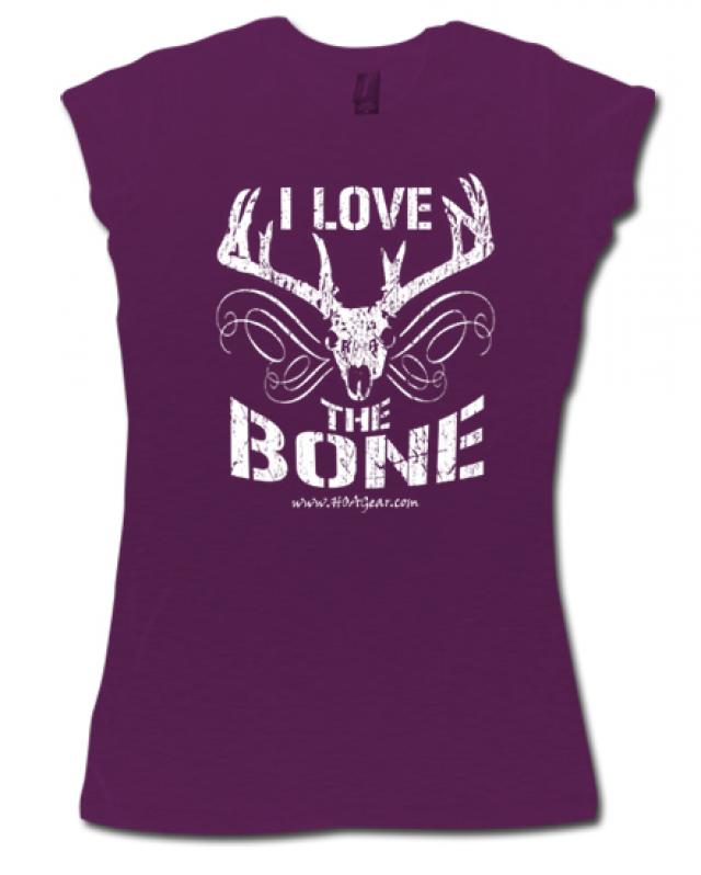 HOA Ladies Purple Cap Sleeve Tee- I Love the Bone