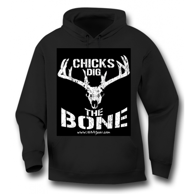 HOA Chicks Dig the Bone Black Hoodie