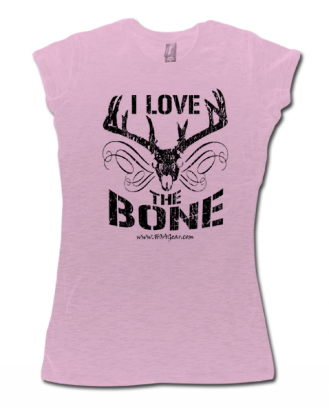 HOA Ladies Pink Cap Sleeve Tee- I Love the Bone